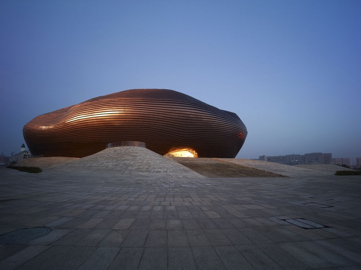 Ordos Museum by MAD in Gobi desert, China