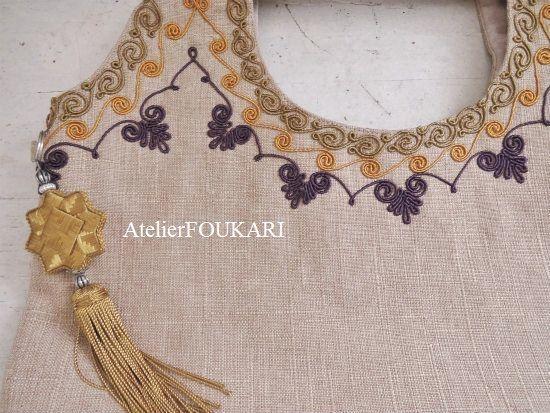 モロッコ刺繍バッグ-レザンレテの商品ページです。人気のモロッコ刺繍バッグ、大人っぽい3連刺繍が美しい新作が入荷しました!