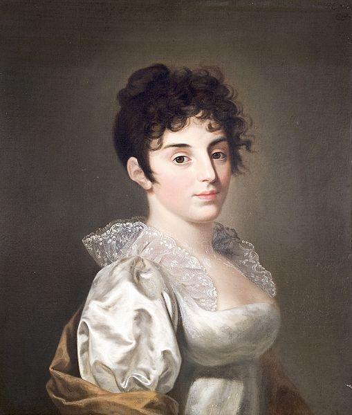 Portret van Constantia barones Lampsins (Amsterdam 1780-1807) door Pieter Christoffel Wonder, 1800 - 1807