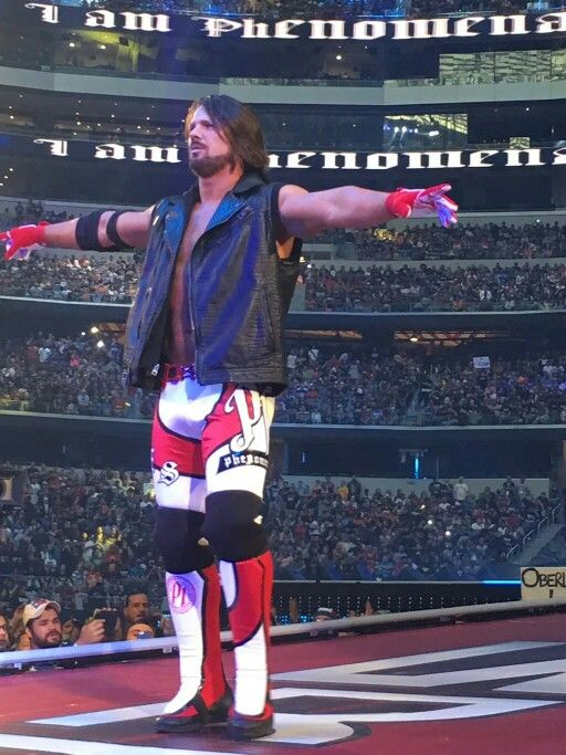 AJ Styles at his very first wrestlemania, he belongs there on the grandest of them all.
