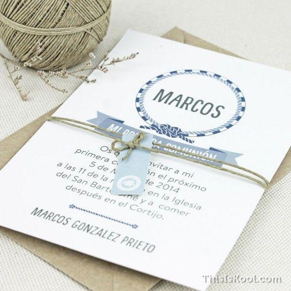 Invitaciones de Primera Comunión personalizadas para que el o la protagonista pueda invitar a todo sus seres queridos.