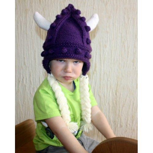 Вязаная шапка Викинг мальчик 2 цена купить отзывы характеристики | Товары для новорожденных, одежда для детей, игрушки. Купить в Украине