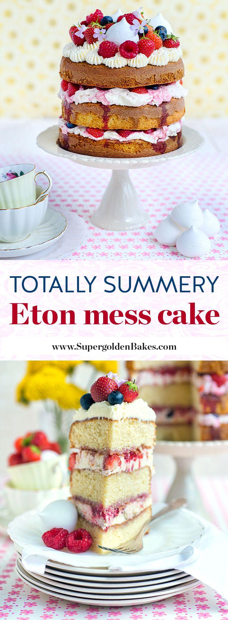 Gloriously summery Eton Mess layer cake | Supergolden Bakes