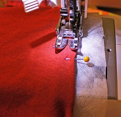 A Trick For Hemming Knits | Designs by Moo