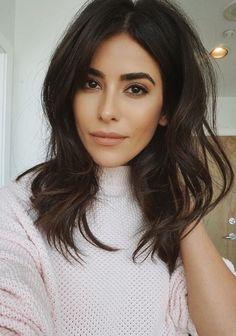 Mid length brunette hair