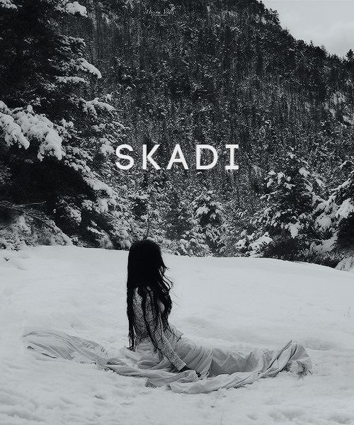 """In Norse mythology, Skaði is the goddess of winter and of the hunt. Associated with bowhunting, skiing, winter, and mountains, Skaði makes her home in the highest peaks where the snow never..."