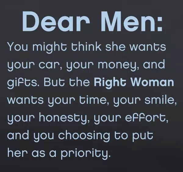 What A Woman Wants From A Man Quotes: Dear Men: You Might Think She Wants