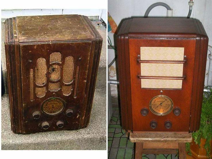 Las 25 mejores ideas sobre radio antigua en pinterest y - Reparar muebles antiguos ...