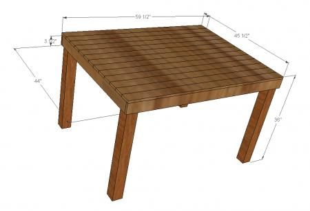 Ana white build a pub counter height table seats 6 free and easy diy project and furniture - Ana white kitchen table ...