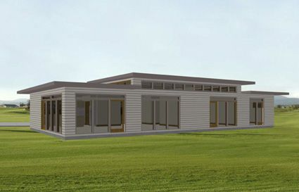 Flat roof  House plans and Small windows on Pinterest