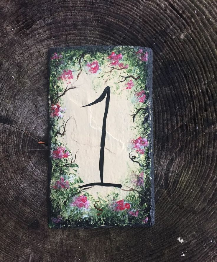 198 best hand painted slate images on pinterest death grief and bride groom hand painted slate table number markers rustic wedding decoration sciox Images