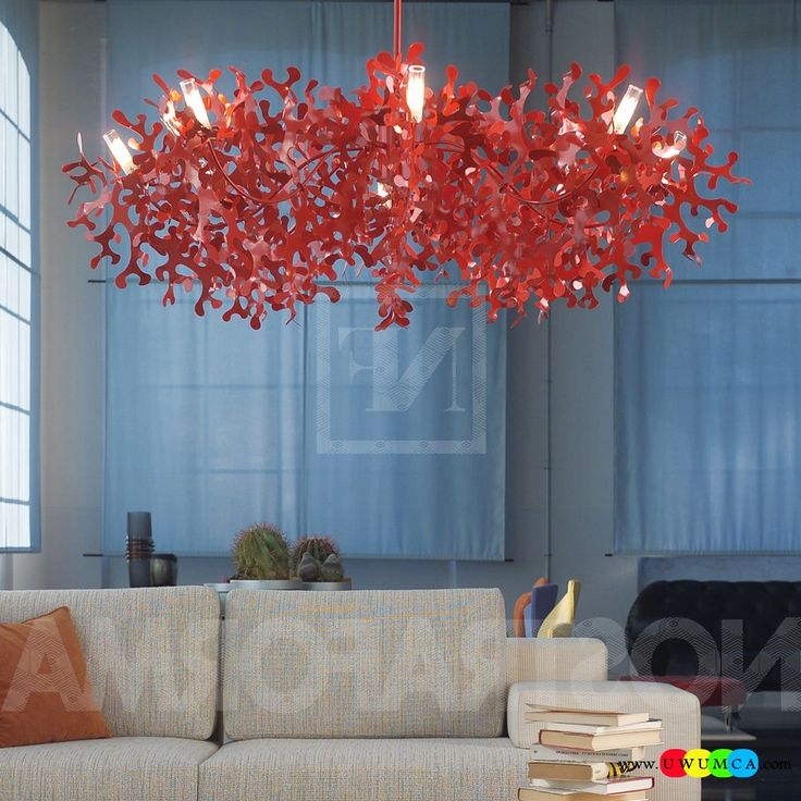 30 Grey And Coral Home Décor Ideas: Decoration:Diy Coral Lamp Shade Coral Light Pendant