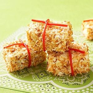 Coconut Cake Hay Bales