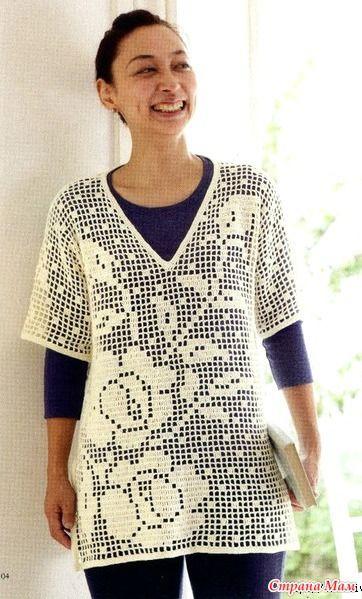 Замечательный образец туники для любительниц филейного вязания. Пряжа лен.260 гр в мотке. Крючок 3 мм. Размер Обхват груди 98 см. Длинна 102 см. http://www.bianzhile.com/