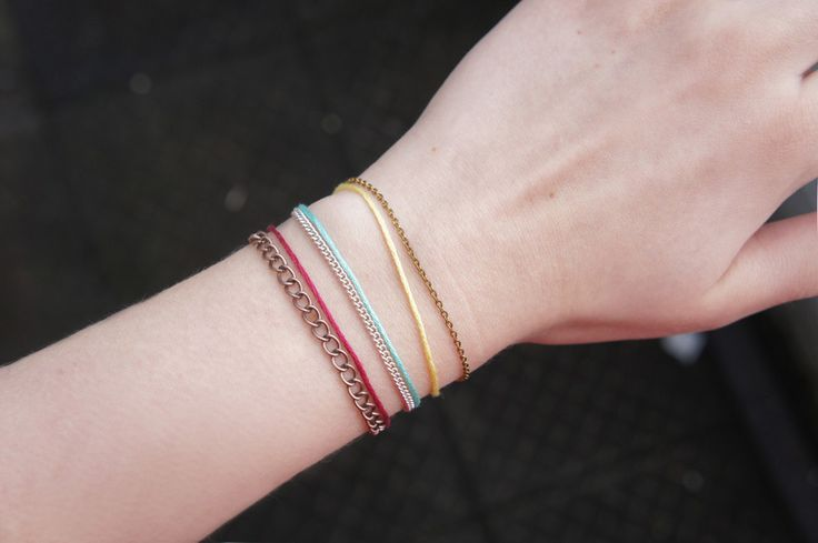 DIY| Delicate Thread Bracelets