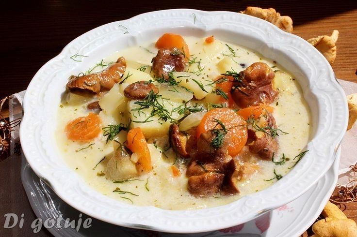 Di gotuje: Zupa z kurek (kurkowa) z ziemniakami i koperkiem