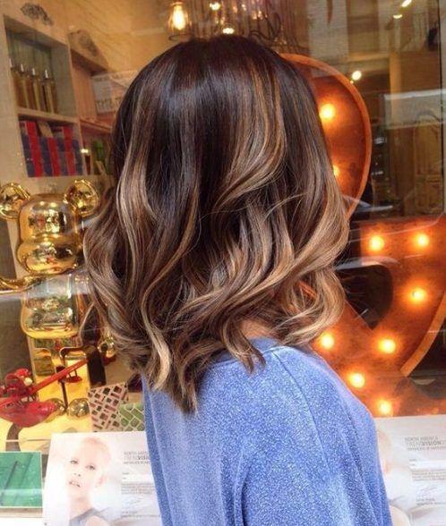 helle Mandel Balayage Haarfarbe