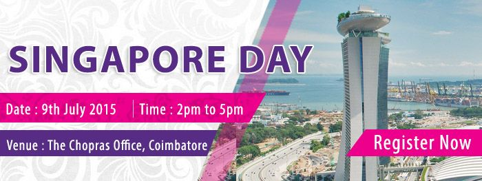 Meet The Experts From Singapore Universities and Process Your Applications for 2015-16 Intakes.... Know More : http://www.thechopras.com/discover/events-and-university-visits/inhouse-fair/inhousefair/coim.html   #studyinsingapore  #singaporeday