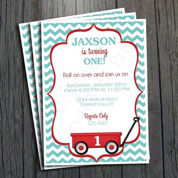22 best images about Ideas Little Red Wagon Theme – Red Wagon Birthday Invitations