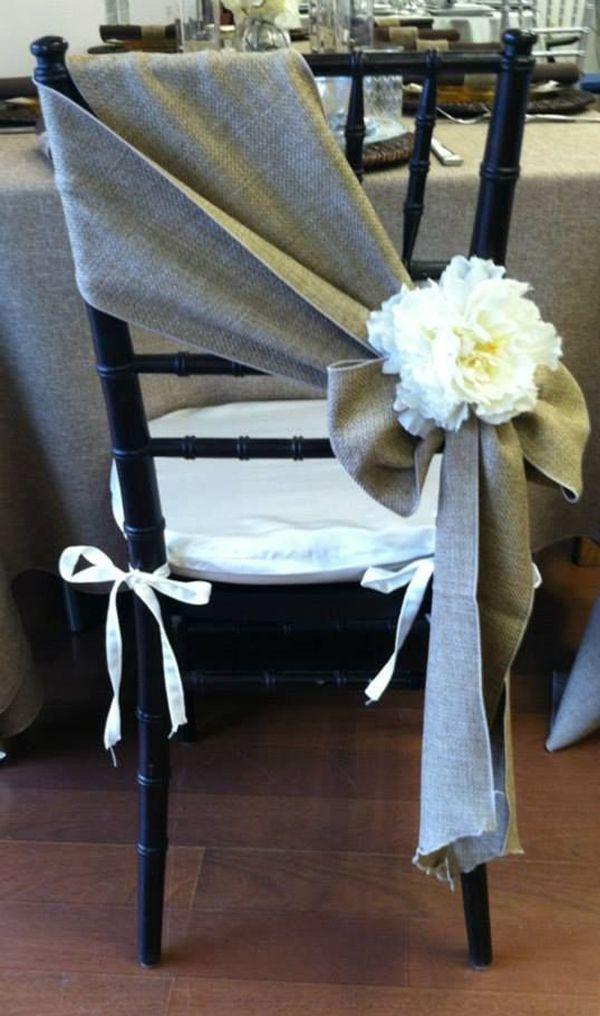 grey burlap wedding chair details ideas for 2017 country weddings