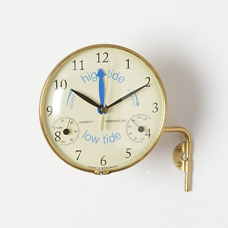 Time & Tide Clock....even though we are not on the water or in the boat at the moment ,and very land locked in SW ,it would feel so connecting to know where the tide is at