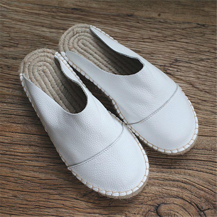 Купить товар2016 Натуральная Кожа чистая обувь ручной работы, Весной или летом половина кожаные тапочки женщина ступит тапочки повседневная обувь, 3 цветов в категории Тапочкина AliExpress. 2016 Натуральная Кожа чистая обувь ручной работы, Весной или летом половина кожаные тапочки женщина ступит тапочки повседневная обувь, 3 цветов
