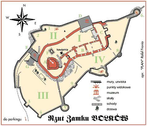 Zamek Bolków - mapa