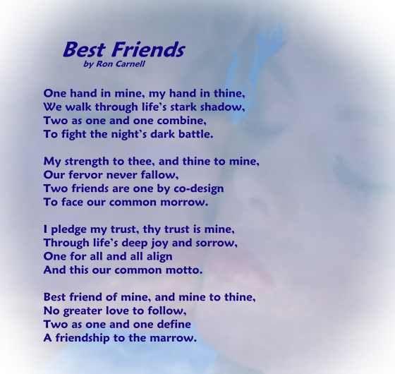 poems | Poetry Greeting Cards - Friendship Poem - Best Friends