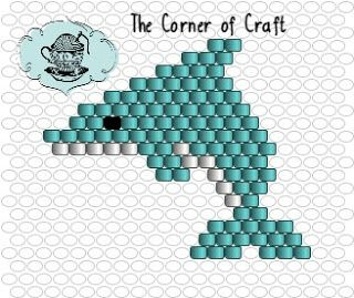 Welcome to the Cozy Corner of Craft: Brick Stitch Dolphin Pattern