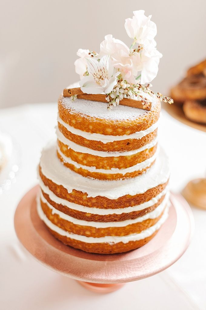 winter naked cake | Amanda Adams Photography | Glamour & Grace
