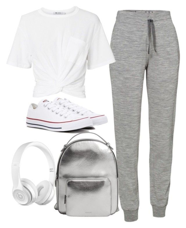 """styl3"" by yatsar1 on Polyvore featuring Icebreaker, T By Alexander Wang, Converse and MANGO"