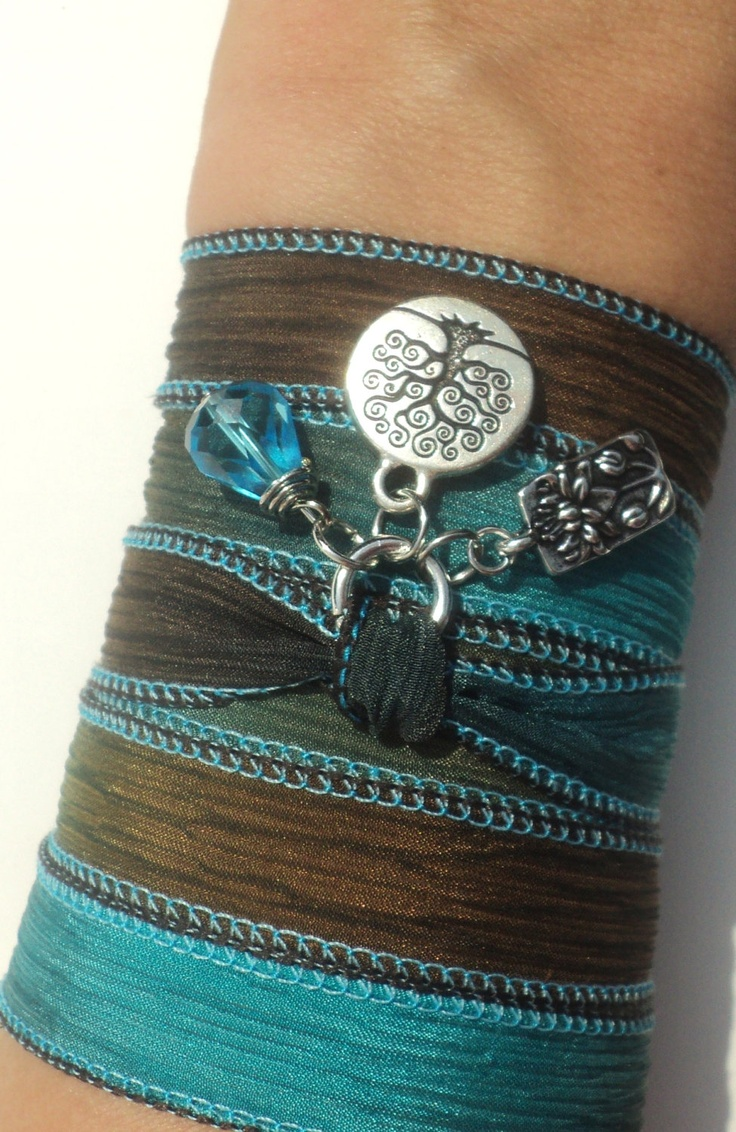Lotus Tree of Life Silk Wrap Bracelet Yoga Jewelry Namaste Necklace Unique Gift For Her Fall Under 50 Item S63. $30.95, via Etsy.
