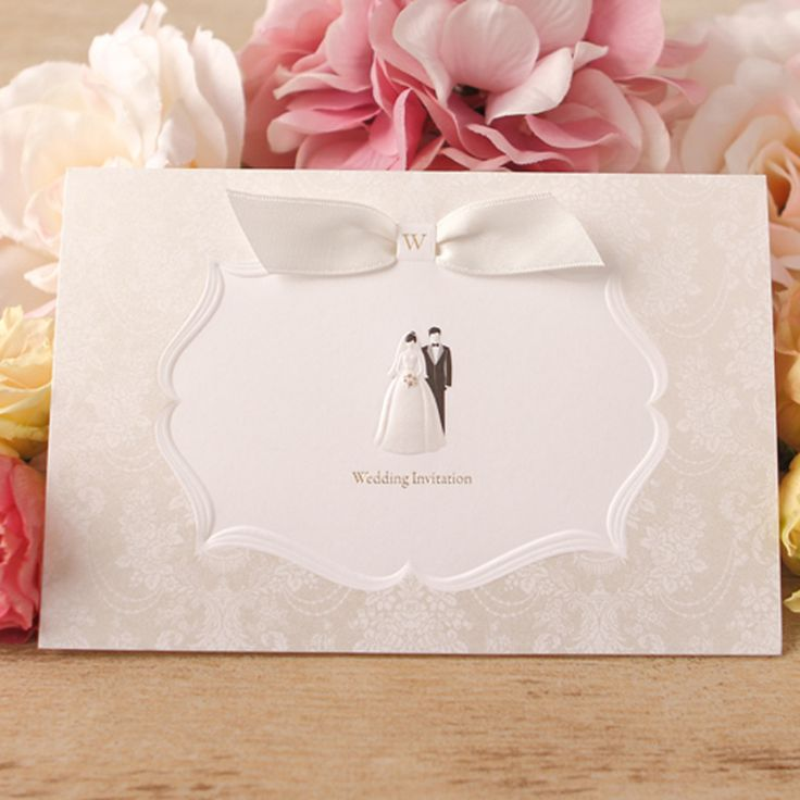 free wedding borders for invitations%0A Vintage Design Free Personalized  u     Customized Printing Wedding Invitations  Cards With White Ribbon  Set of