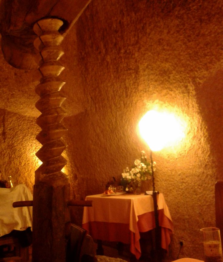 Cave restaurant in Valdevimbre, Spain