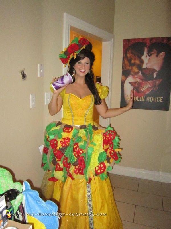 Taco Belle Wordplay Costume   Coolest Homemade Costumes   Belle Halloween  Costumes, Diy Halloween Costumes, Taco Belle Costume