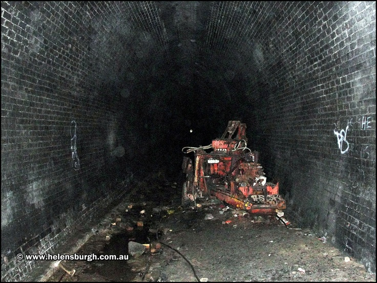 Otford Tunnel. Discarded machinery left behind by the mushroom cultivators.