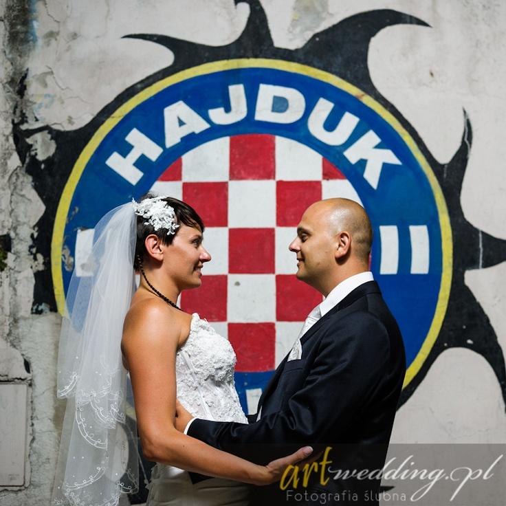 Plener Ślubny w Chorwacji - Split - Pałac Dioklecjana - Hajduk Split    #Croatia #Chorwacja