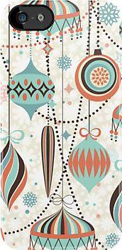 Elegant Art,Deco Christmas Ornaments Random Pattern by artonwear