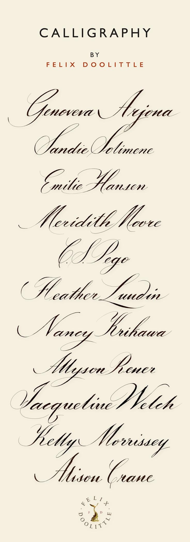 Calligraphy by Felix Doolittle