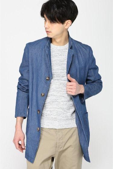 春先に活躍するデニム素材。春夏のファッション アイテム メンズショップコート コーデを集めました。