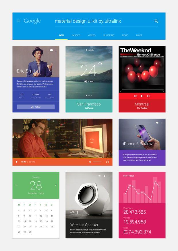 Material Design UI Kit | Free Download - UltraLinx