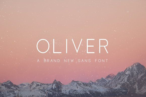Oliver Font - 3 Weights Included by Salt & Pepper Designs on @creativemarket