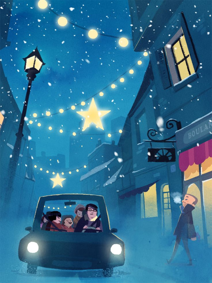love this magical illustration by artist Carine Hinder. #magical #stars