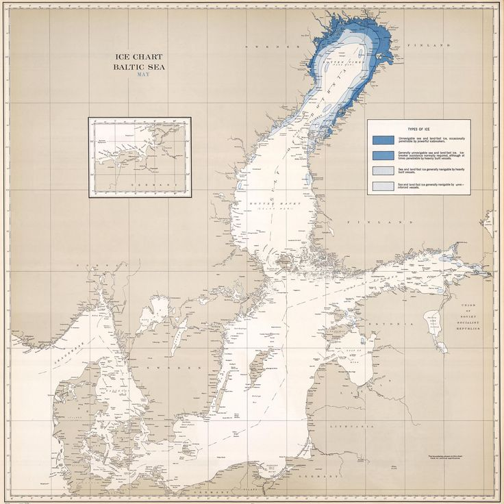 Ice Charts Baltic Sea, U.S. Navy - ATLAS OF PLACES