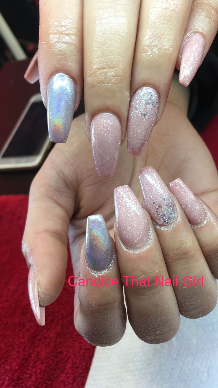 # chrome nails # acrylic nails
