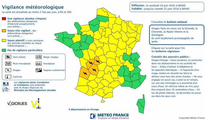 Alerte aux orages: Quatre départements du sud-ouest en vigilance orange