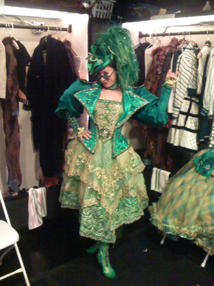 Emerald City Wicked Costumes | allison leo in her emerald city costume