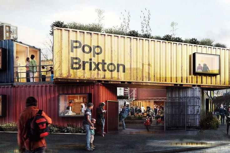 Our @jellybooks neighborhood in London has anew attraction: Boxpark in Brixton made of shipping containers and now south London's latest foodie hub