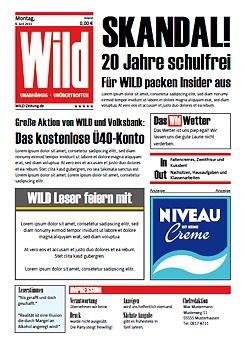 Wunschblatt Kreative Druckvorlagen Einladung