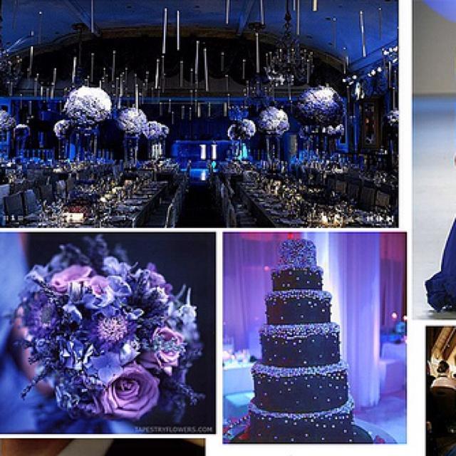 The 25+ best Royal blue tall wedding cakes ideas on Pinterest ...